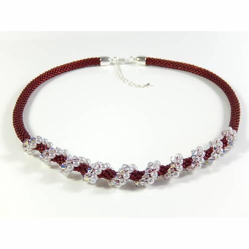 Häkelkette Halsschmuck Unikat Perlenkette Geschenk