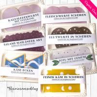 Digitale Bastelbogen: Aufschnitt, Wurst, Käse und Tofu für den Kaufladen Bild 1