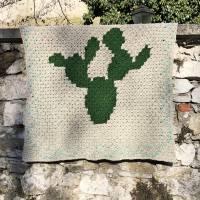 C2C Anleitung Kaktusdecke Cactulian, häkeln Bild 2