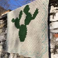 C2C Anleitung Kaktusdecke Cactulian, häkeln Bild 7