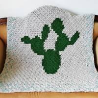 C2C Anleitung Kaktusdecke Cactulian, häkeln Bild 9