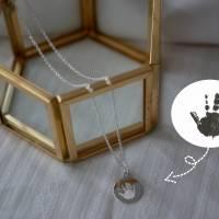 925 Silber Halskette mit individueller Gravur (Abdrücke, Zeichnungen, Handgeschriebenes) | Tolle Geschenkidee Bild 3