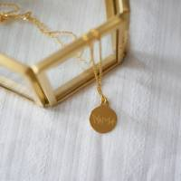 925 Silber Halskette mit individueller Gravur (Abdrücke, Zeichnungen, Handgeschriebenes) | Tolle Geschenkidee Bild 4