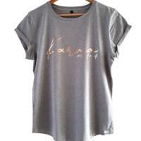 Damen-Shirt BIO *Karma will fix it* Print kupfer / rosegold - aus 100% fairer und ethischer Herstellung - LOOSE FIT Bild 1