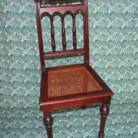 alter Gründerzeit Stuhl mit Wiener Geflecht Bild 1