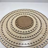 Korbboden Holzboden Boden korb Rund Oval Kreis Viereck Quadrat Häkelboden für Häkelkorb Mdf  Holzböden Häkelkörbe Holzbö Bild 2