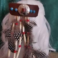 Haarschmuck, Haarspange mit Federn (HS4)  Bild 3