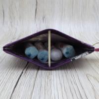 Mini-Täschchen aus Wachstuch mit Schnappverschluss, Kopfhörertäschchen, Tampontäschchen, Bulldoggen Bild 8