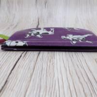 Mini-Täschchen aus Wachstuch mit Schnappverschluss, Kopfhörertäschchen, Tampontäschchen, Bulldoggen Bild 9