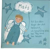 Schutzengelbild Schutzengel Bild Junge zur Taufe Geburt Bild 1