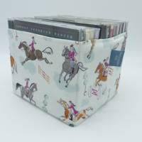 Utensilo 'Springreiten' für 12 CD's, Stoffkörbchen, Aufbewahrung, Ordnungshüter Bild 1