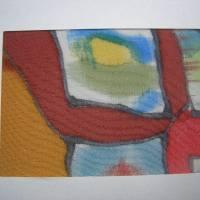 Lesezeichen mit handbemalter Seide Bild 5