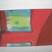 Lesezeichen mit handbemalter Seide Bild 6