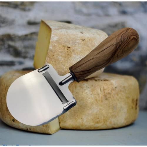 Käsehobel mit Griff aus Olivenholz  für stilvolles Servieren