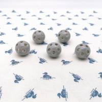 Rasselkugel Rasselball 24mm, zum Einnähen in Kuscheltiere, Rasseln, Puppen oder Tierspielzeug, Grau Bild 3
