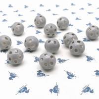 Rasselkugel Rasselball 24mm, zum Einnähen in Kuscheltiere, Rasseln, Puppen oder Tierspielzeug, Grau Bild 4