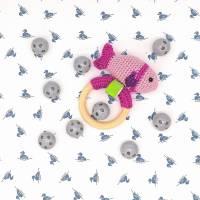 Rasselkugel Rasselball 24mm, zum Einnähen in Kuscheltiere, Rasseln, Puppen oder Tierspielzeug, Grau Bild 5