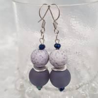 """Ohrringe """"Marina"""", blau/grau, Edelstahl Bild 2"""
