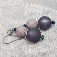 """Ohrringe """"Marina"""", blau/grau, Edelstahl Bild 3"""