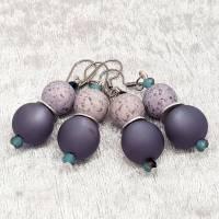 """Ohrringe """"Marina"""", blau/grau, Edelstahl Bild 6"""