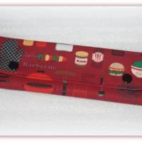 Bestecktasche Barbecue aus Stoff mit Druckknopfverschluss, Besteck to go Bild 2