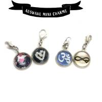 Symbole Herz, Infinity, Om als Mini Charme Anhänger Bild 1