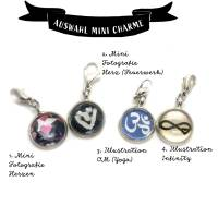 Symbole Herz, Infinity, Om als Mini Charme Anhänger Bild 2