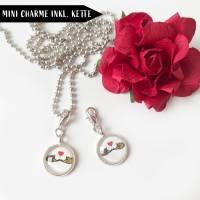 Symbole Herz, Infinity, Om als Mini Charme Anhänger Bild 4