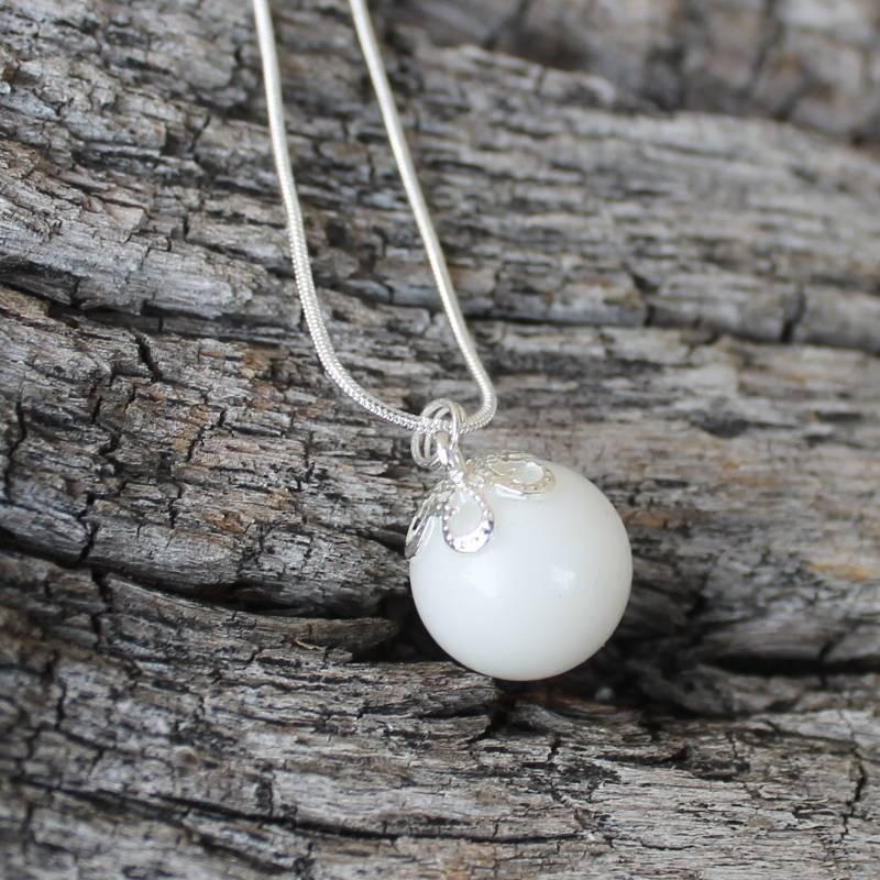 Muttermilchkette Perle 16 mm mit deiner Muttermilch Bild 1