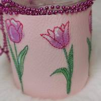 Frühling Tulpen Doodle Stickdatei ab 10x10 Bild 2