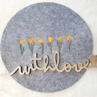 Frühling Tulpen Doodle Stickdatei ab 10x10 Bild 4