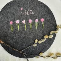 Frühling Tulpen Doodle Stickdatei ab 10x10 Bild 6