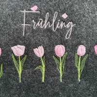 Frühling Tulpen Doodle Stickdatei ab 10x10 Bild 7