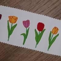 Frühling Tulpen Doodle Stickdatei ab 10x10 Bild 9