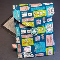 E-Reader-Tasche mit handgearbeitetem Zwirnknopf Bild 1