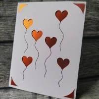 Herzballons - Karte zum Selbermachen Bild 1