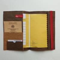 """U-Heft Hülle SnapPap """"Retro"""" * Hellbraun/Chocolate * mit Foto individualisierbar * Gummiband * Einsteckfächern Bild 4"""