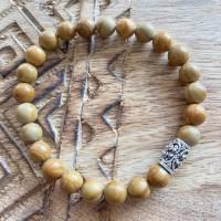 Männerarmband aus beigem Jaspis Bild 1