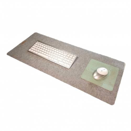 Schreibtischauflage mit Mauspad Unterlage Handmade Merino Wollfilz Filz Kork Farb- und Größenauswahl
