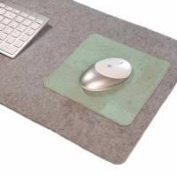 Schreibtischauflage mit Mauspad Unterlage Handmade Merino Wollfilz Filz Kork Farb- und Größenauswahl Bild 8