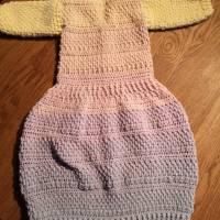 Babyjäckchen mit Fußsack incl. 2 farblich passende Mützen Bild 3