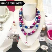 Perlenkette in Frühlingsfarben inklusive 1x Mini Charme gratis Bild 1