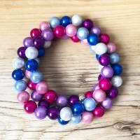 Perlenkette in Frühlingsfarben inklusive 1x Mini Charme gratis Bild 5