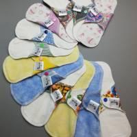 5er SET waschbare Slipeinlagen und Binden in 4 verschiedenen Stärken *Upcycling-Produkt* Bild 1
