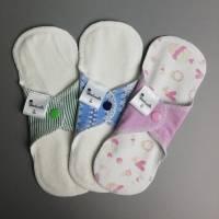 5er SET waschbare Slipeinlagen und Binden in 4 verschiedenen Stärken *Upcycling-Produkt* Bild 5