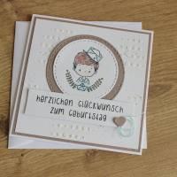"""Geburtstagskarte Kindergeburtstag """"Kleiner Matrose"""" oder """"Kleine Matrosin"""" aus der Manufaktur Karla Bild 2"""