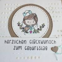 """Geburtstagskarte Kindergeburtstag """"Kleiner Matrose"""" oder """"Kleine Matrosin"""" aus der Manufaktur Karla Bild 5"""