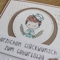"""Geburtstagskarte Kindergeburtstag """"Kleiner Matrose"""" oder """"Kleine Matrosin"""" aus der Manufaktur Karla Bild 7"""
