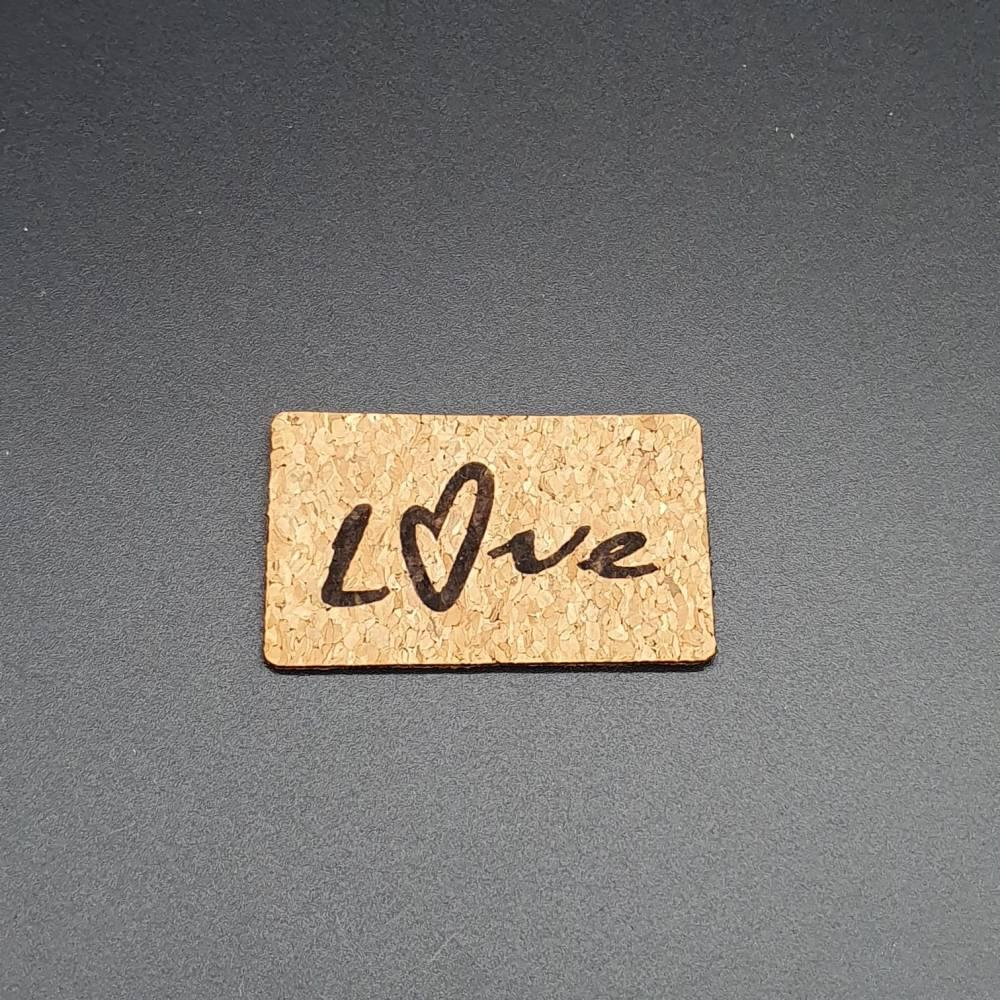 Korklabel Love Bild 1