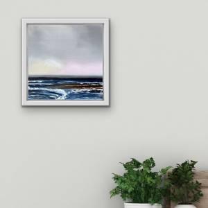 Abstrakte Malerei Acryl, Originalgemälde, Acrylbild auf Leinwand, maritime Kunst, 30x30 cm Leinwand, maritime Wanddeko,  Bild 1